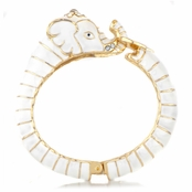 Effie's Goldtone Elephant Bangle Bracelet