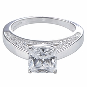 Elaine's Princess Cut Cubic Zirconia Engagement Ring