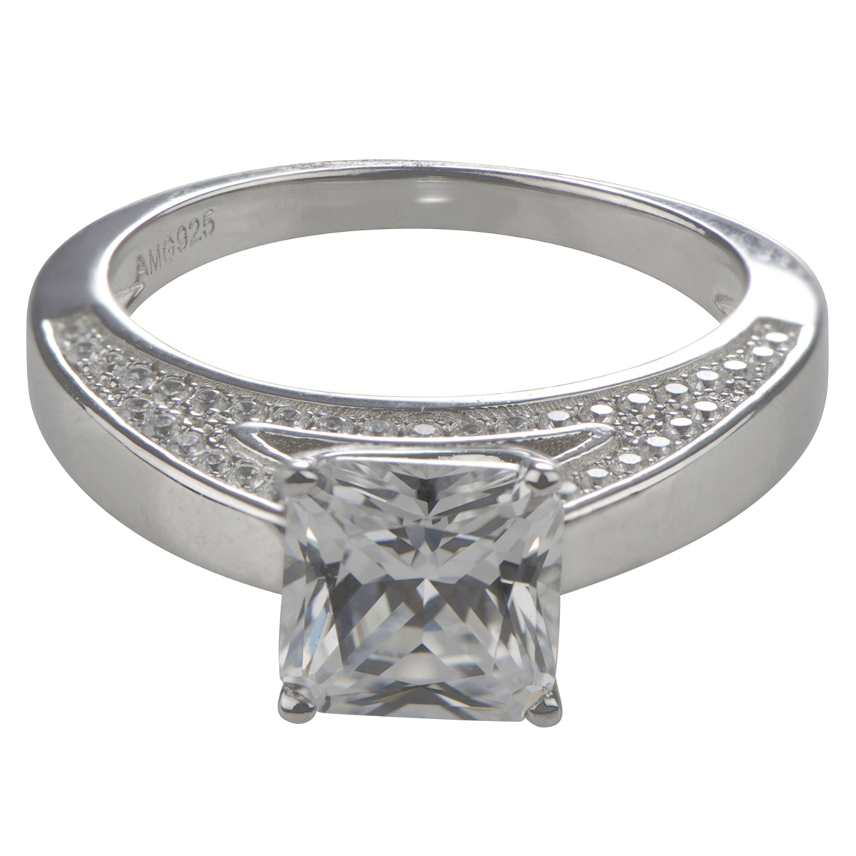 elaine s princess cut cubic zirconia engagement ring