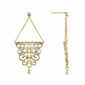 Eleanor's Gold Tone Chandelier Earrings