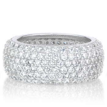 Eliese's Thick Pave CZ Eternity Ring Band