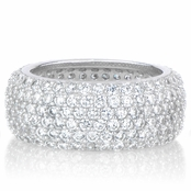 Eliese's Thick Pave CZ Eternity Band