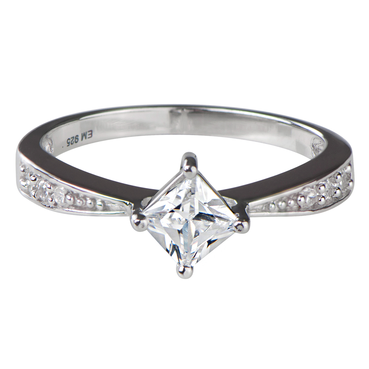 elisa s princess cut cz promise ring