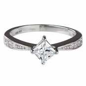 Elisa's Princess Cut CZ Promise Ring