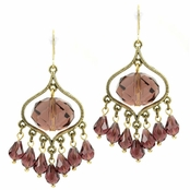 Elise's Briolette Chandelier Earrings - Purple - Final Sale