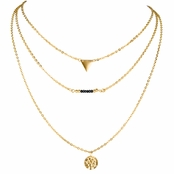 Eliza's Goldtone Multi Layered Necklace