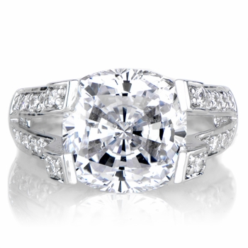Elizabeth's Round Cut CZ Engagement Ring