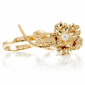 Elle's Two Finger Flower Ring - Rose Gold