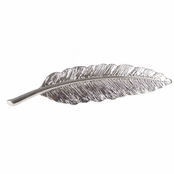 Ellen's Silvertone Feather Brooch