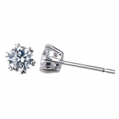 Ellianna's Heart & Arrow Prong Set 5mm CZ Stud Earrings