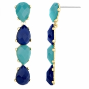 Embeline's Blue and Turquoise Pear Drop Earrings