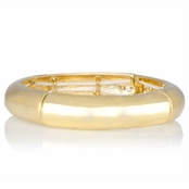 Emma's Wide Fashion Gold Stretch Bracelet