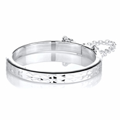 Emma's Hammered Silvertone Baby Bangle Bracelet - 46 mm