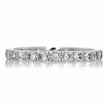 Emmaline's CZ Eternity Wedding Ring Band