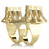 Empire's Goldtone Brooklyn Bridge Ring