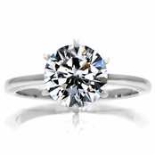 Enya's Round Cut Cubic Zirconia Engagement Ring - 2.25 Carats