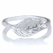 Erica's Petite Silver Leaf Ring