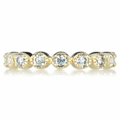 Erica's Goldtone Vintage Rings CZ Eternity Band