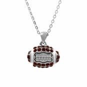 Erin's Rhinestone Football Pendant Necklace