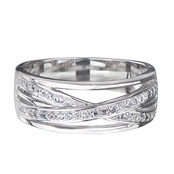 Faith's Cubic Zirconia Criss Cross Band Ring