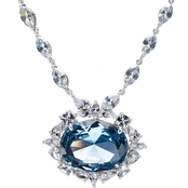 Wish Blue CZ Necklace