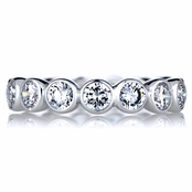 Fawn's Round Cut CZ Eternity Ring
