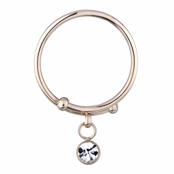 Felia's Rose Gold Charm Pinky Ring