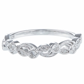 Fiona's Art Deco Cubic Zirconia Stackable Band