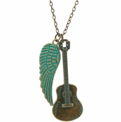 Flying Guitar Necklace