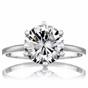 Fredericka's 2.5 Carat Promise Ring - Petite