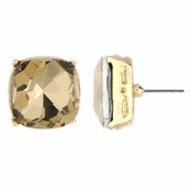 Gabriela's 14mm Cushion Stud Earrings - Champagne