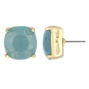 Gabriela's 14mm Cushion Stud Earrings - Imitation Turquoise