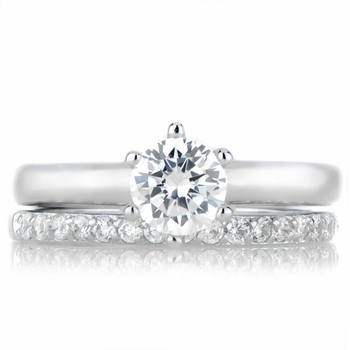 Gabriella's Petite Wedding Ring Set - Silvertone