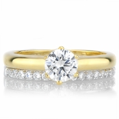 Gabriella's Petite Wedding Ring Set - Two Tone