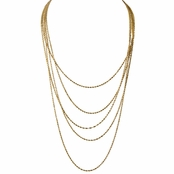 Gail's 5 Strand Layered Goldtone Necklace