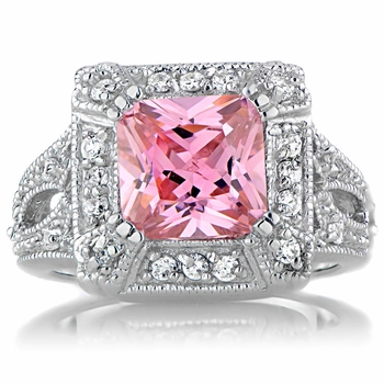 Gaspari's Pink CZ Cocktail Ring