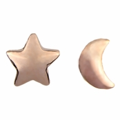 Genevieve's Petite Moon and Star Stud Earrings