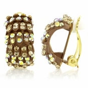 Gertrude's Clip On Hoop Earrings - Gold