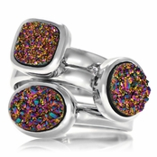 Gia's Imitation Drusy Stackable Ring