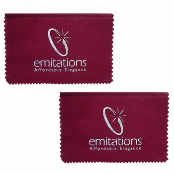 Gift Set: 2 Emitations.com Jewelry Polishing Cloths