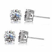 Gift Set: 2 Pairs Jessica's Stud Earrings - 4TCW