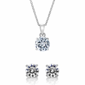 Gift Set: 5 CT Round Cut CZ Jewelry Set