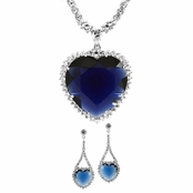 Gift Set: Heart of the Ocean Necklace Set (Comparable To Titanic)