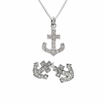 Gift Set: Morgan's CZ Anchor Jewelry Set