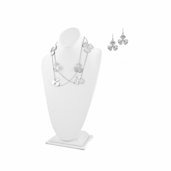 "Gift Set: Teale's Layered Clover 42"" Necklace & Earrings Set"