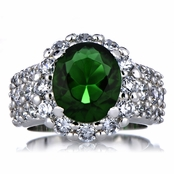 Glynis' Estate Ring - Green CZ