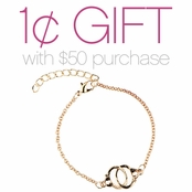 Goldtone Handcuff Bracelet: Spend $50 or More and Pay One Cent