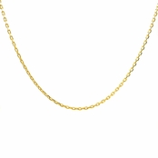 "Goldtone Necklace Chain - 16"" (1mm)"