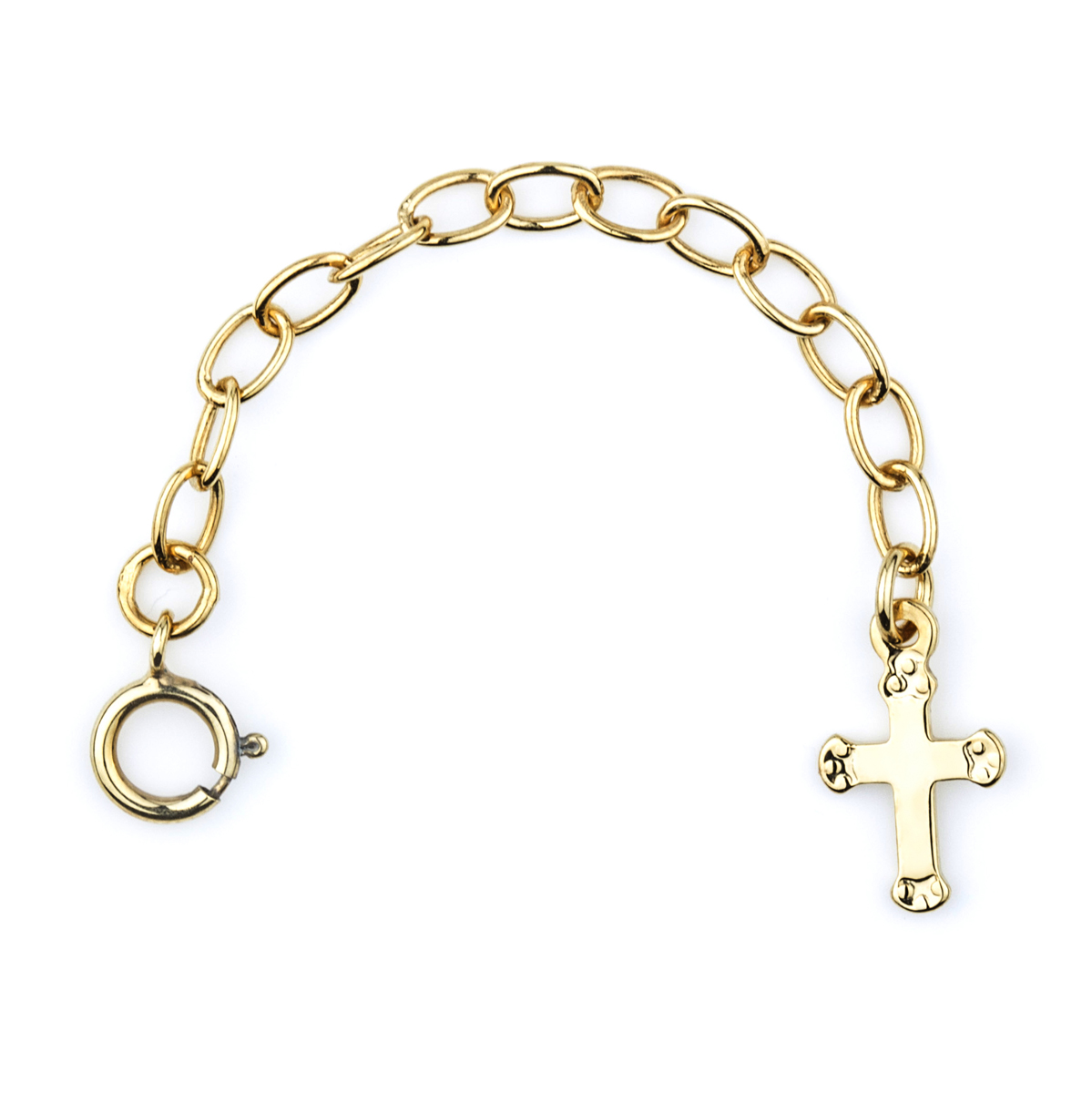 2 5in goldtone necklace extender cross charm
