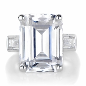 Grace's Emerald Cut CZ Enagagement Ring